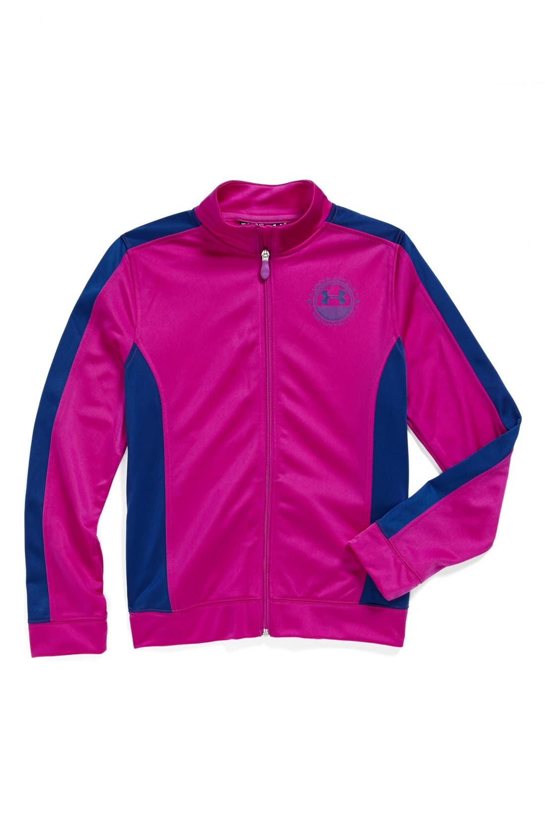 Alternate Image 1 Selected - Under Armour 'Icon' Track Jacket (Big Girls)