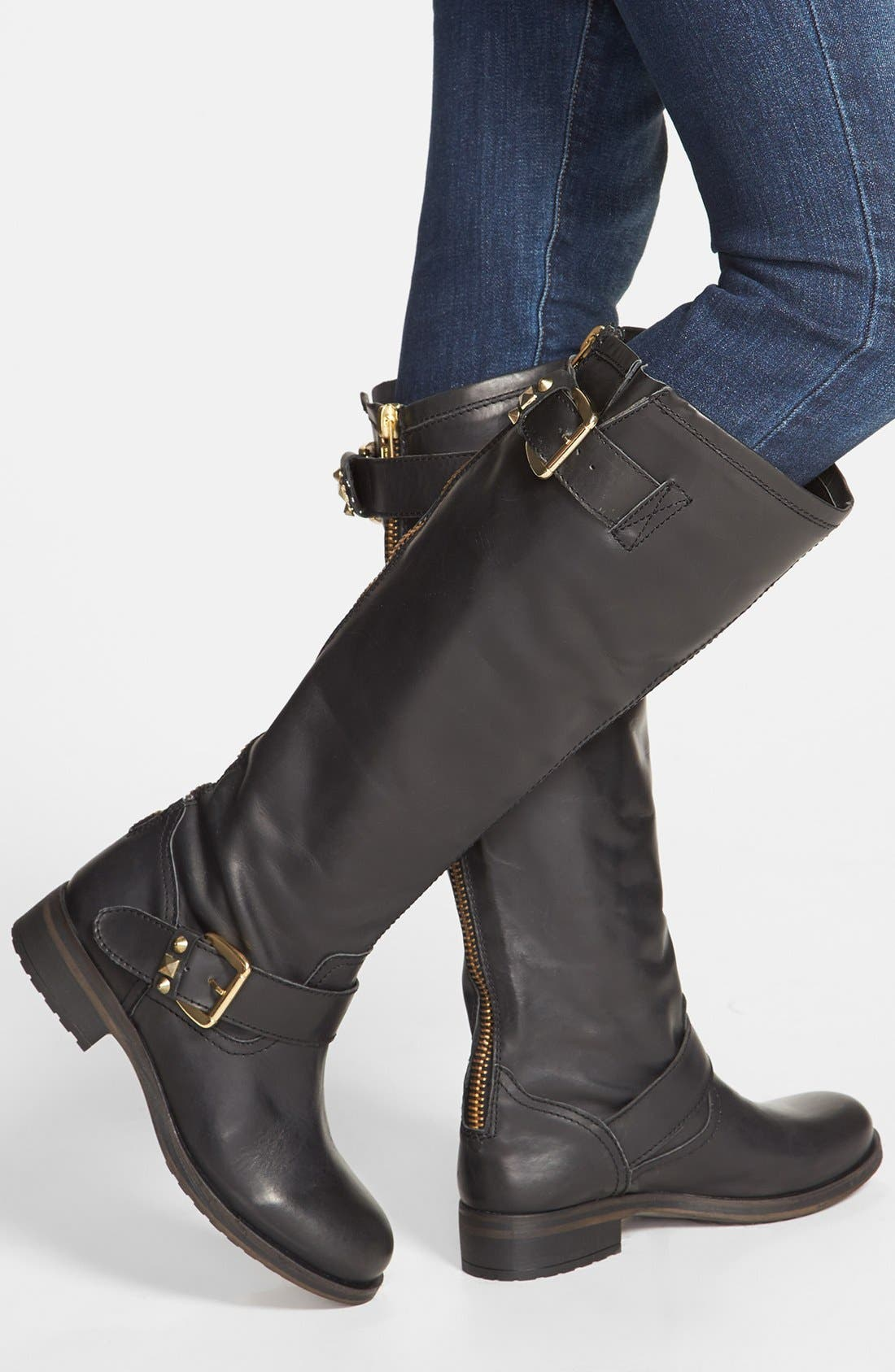 'Barton' Boot,                             Alternate thumbnail 5, color,                             Black Leather