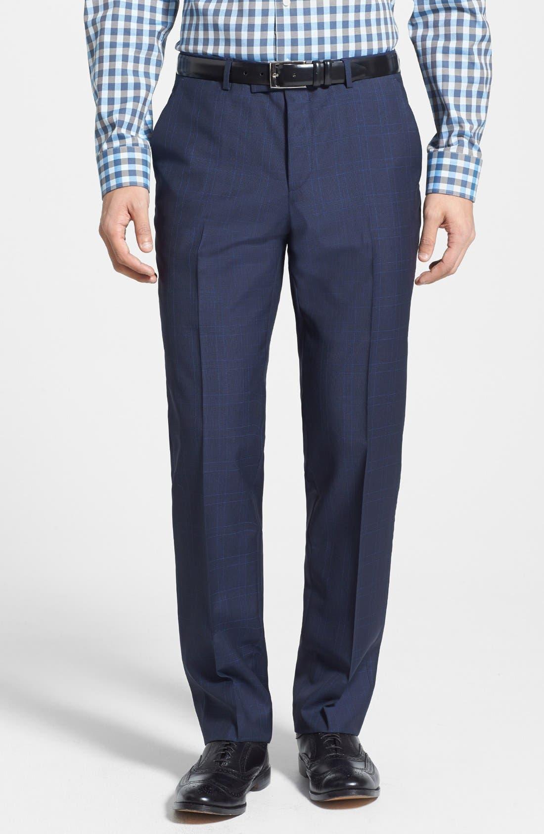 Alternate Image 4  - BOSS HUGO BOSS 'James/Sharp' Trim Fit Windowpane Suit