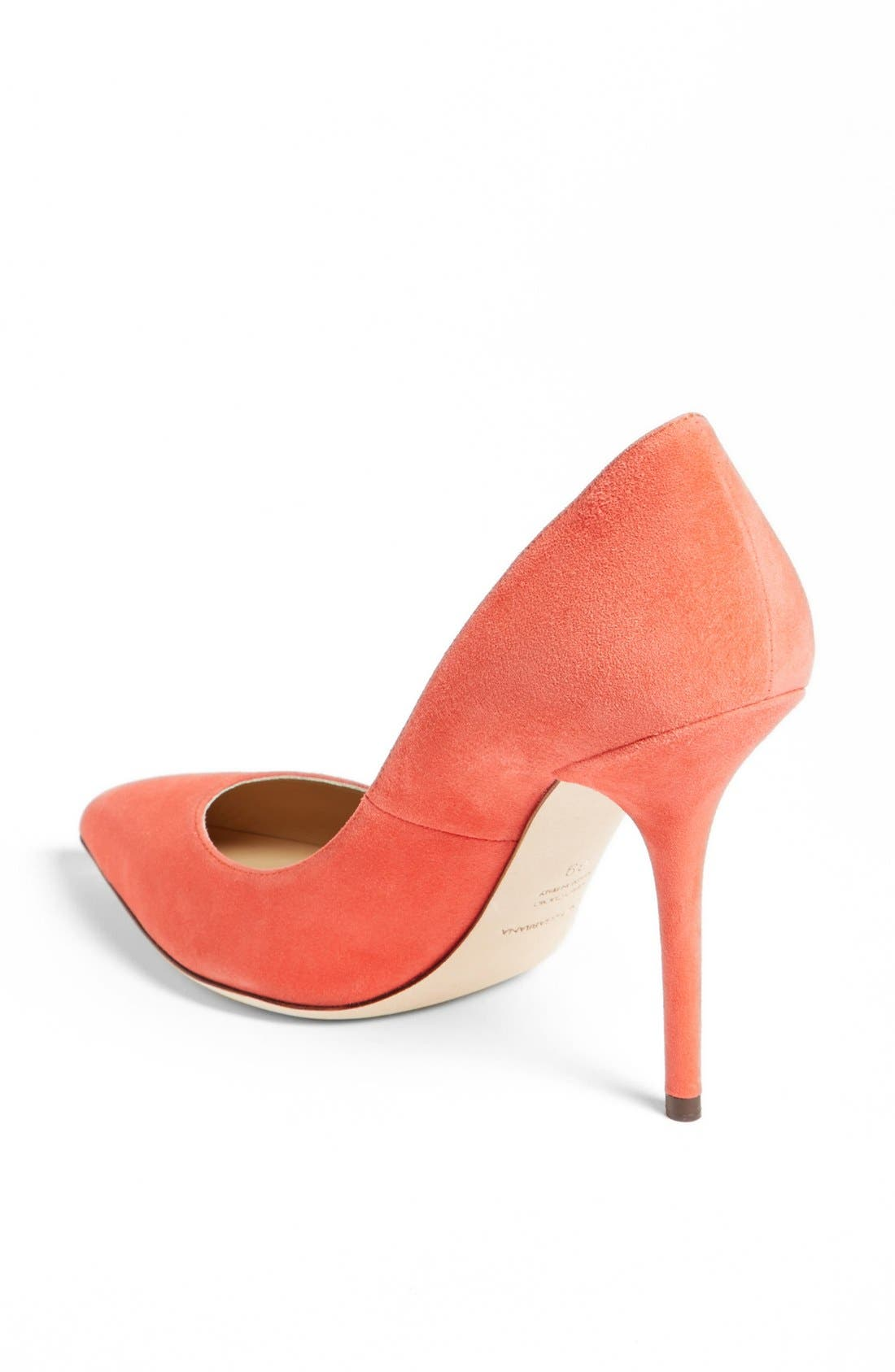 Pointy Toe Pump,                             Alternate thumbnail 2, color,                             Coral
