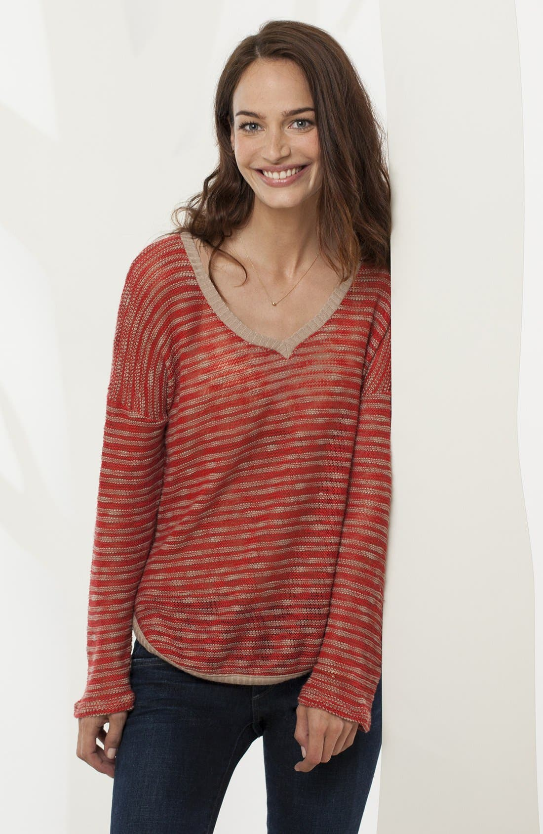Alternate Image 6  - Splendid 'Fireside' V-Neck Sweater