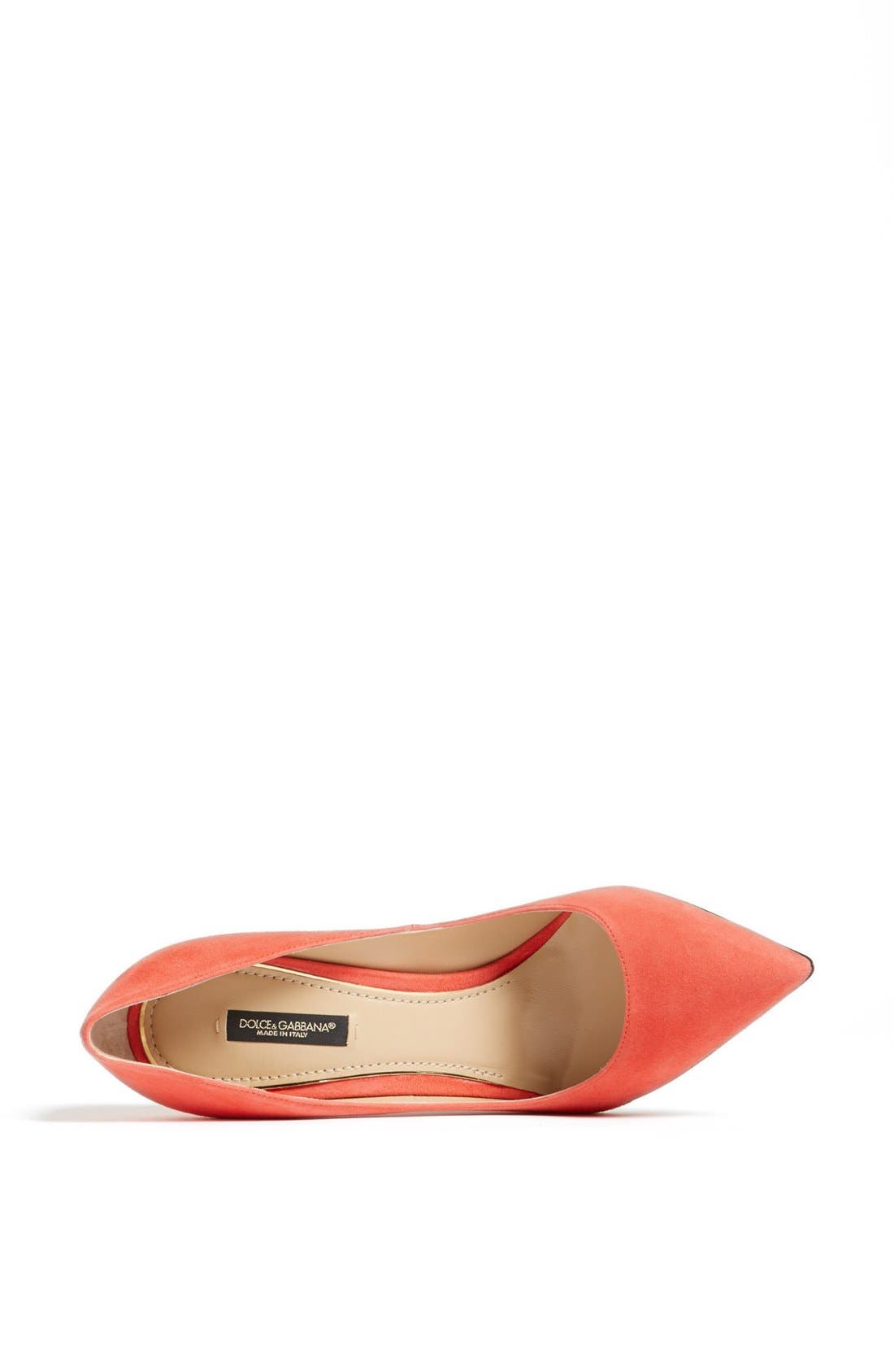 Pointy Toe Pump,                             Alternate thumbnail 3, color,                             Coral
