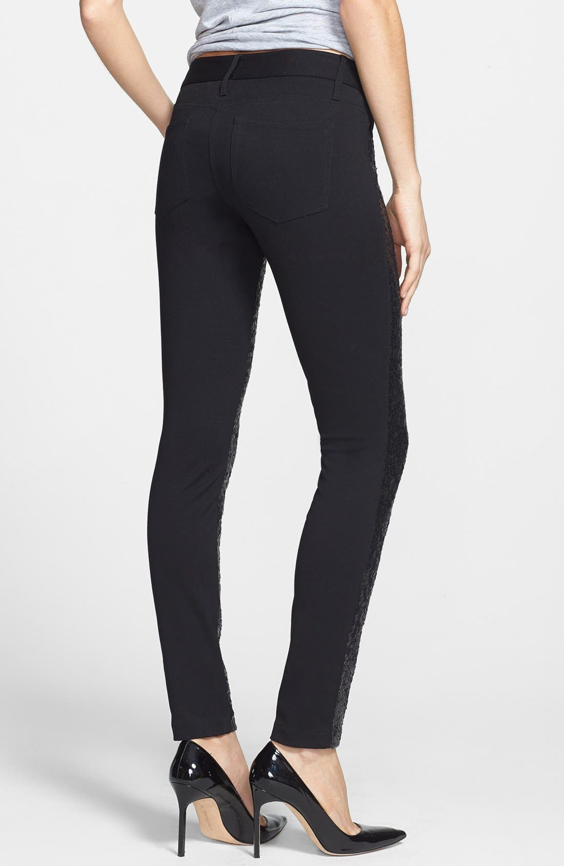 Alternate Image 2  - Paige Denim 'Emily' Skinny Sequin Front Pants