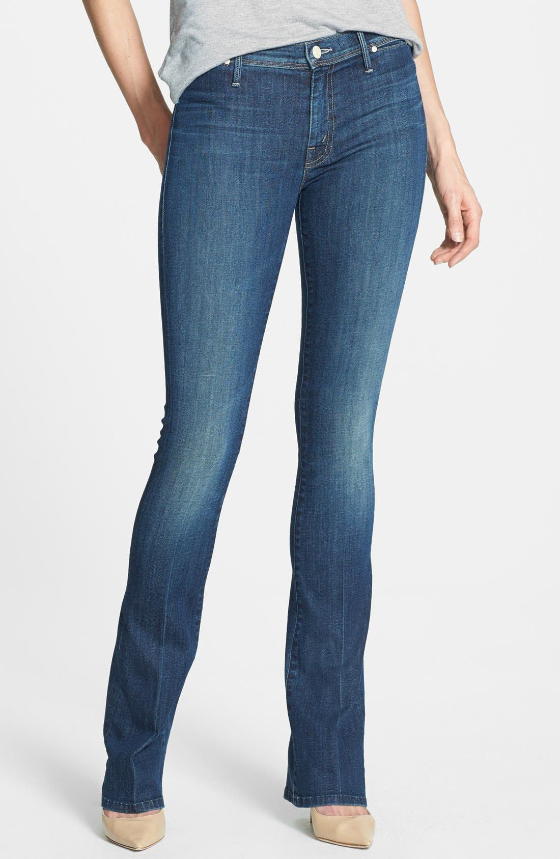 Main Image - MOTHER 'Daydreamer' Skinny Flare Leg Jeans (Waltz at Midnight)