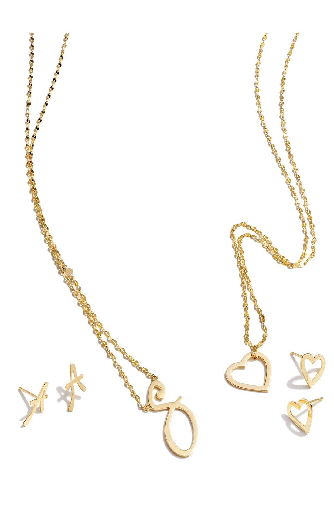Alternate Image 2  - Lana Jewelry 'Spellbound' Initial Half-Pair Stud Earrings
