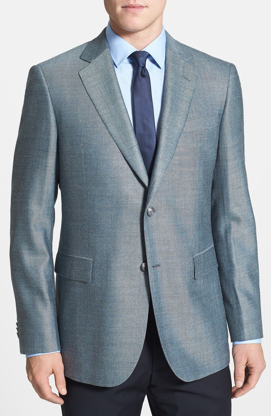 Alternate Image 1 Selected - John W. Nordstrom® Classic Fit Silk Blend Sportcoat
