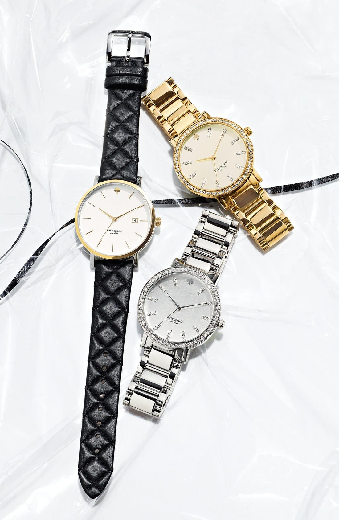 Alternate Image 4  - kate spade new york 'gramercy grand' pavé bezel bracelet watch, 38mm