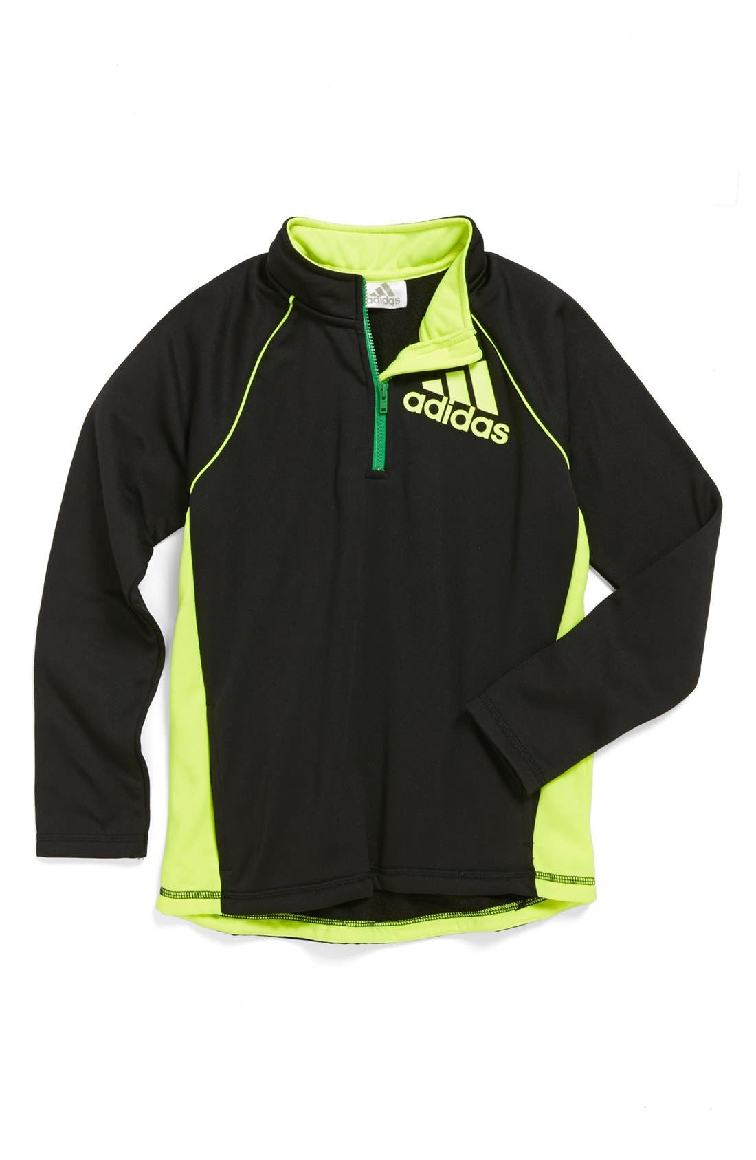 Main Image - adidas 'Tech' Quarter Zip Pullover (Little Boys)