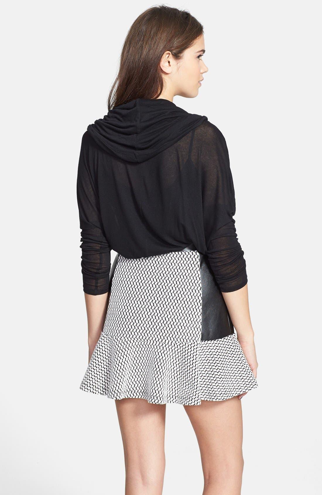 Alternate Image 2  - Soprano Mixed Media Ruffle Skirt (Juniors)