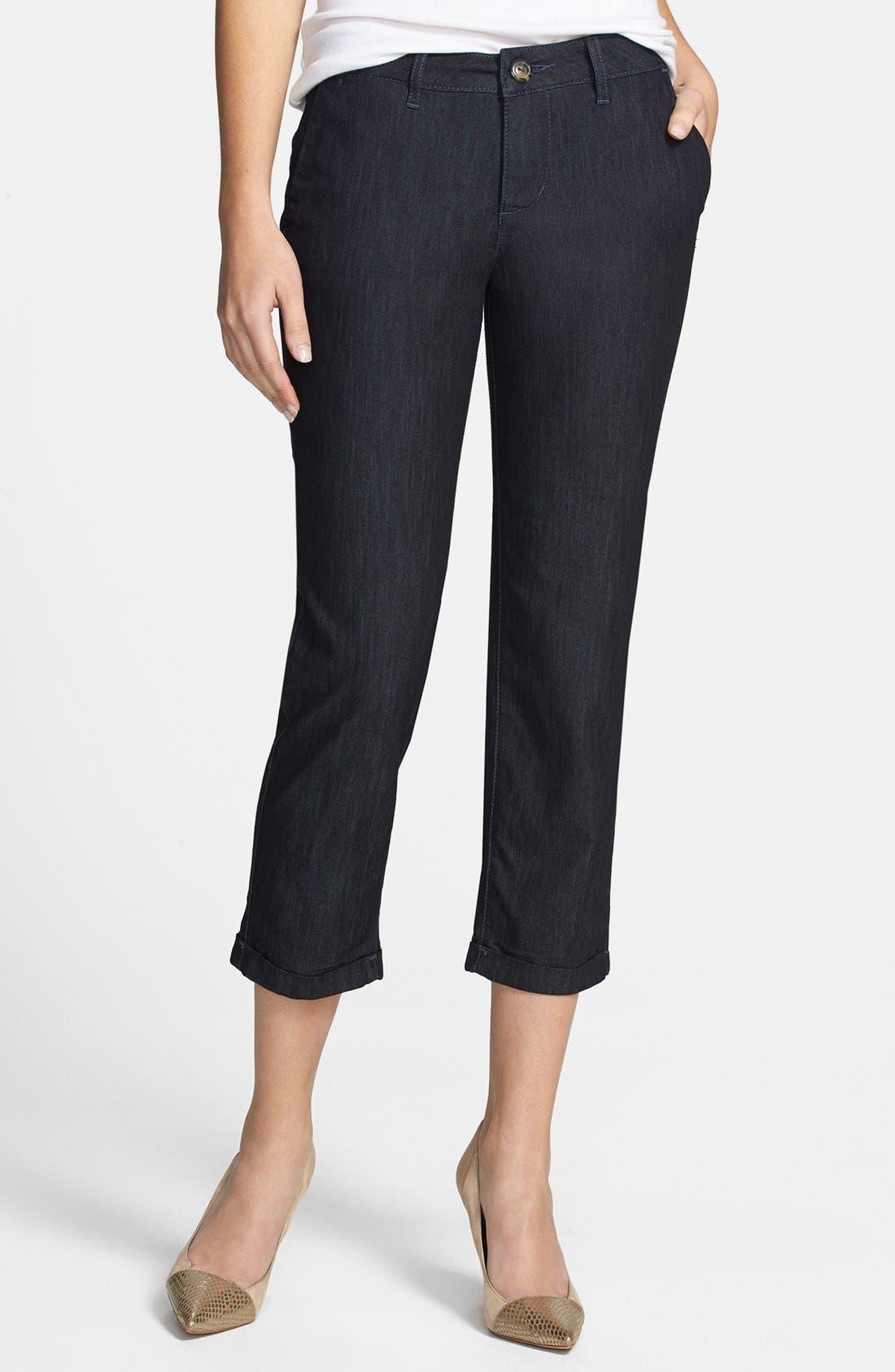 Alternate Image 1 Selected - Jag Jeans 'Cora' Stretch Crop Slim Leg Jeans (Dark Storm)