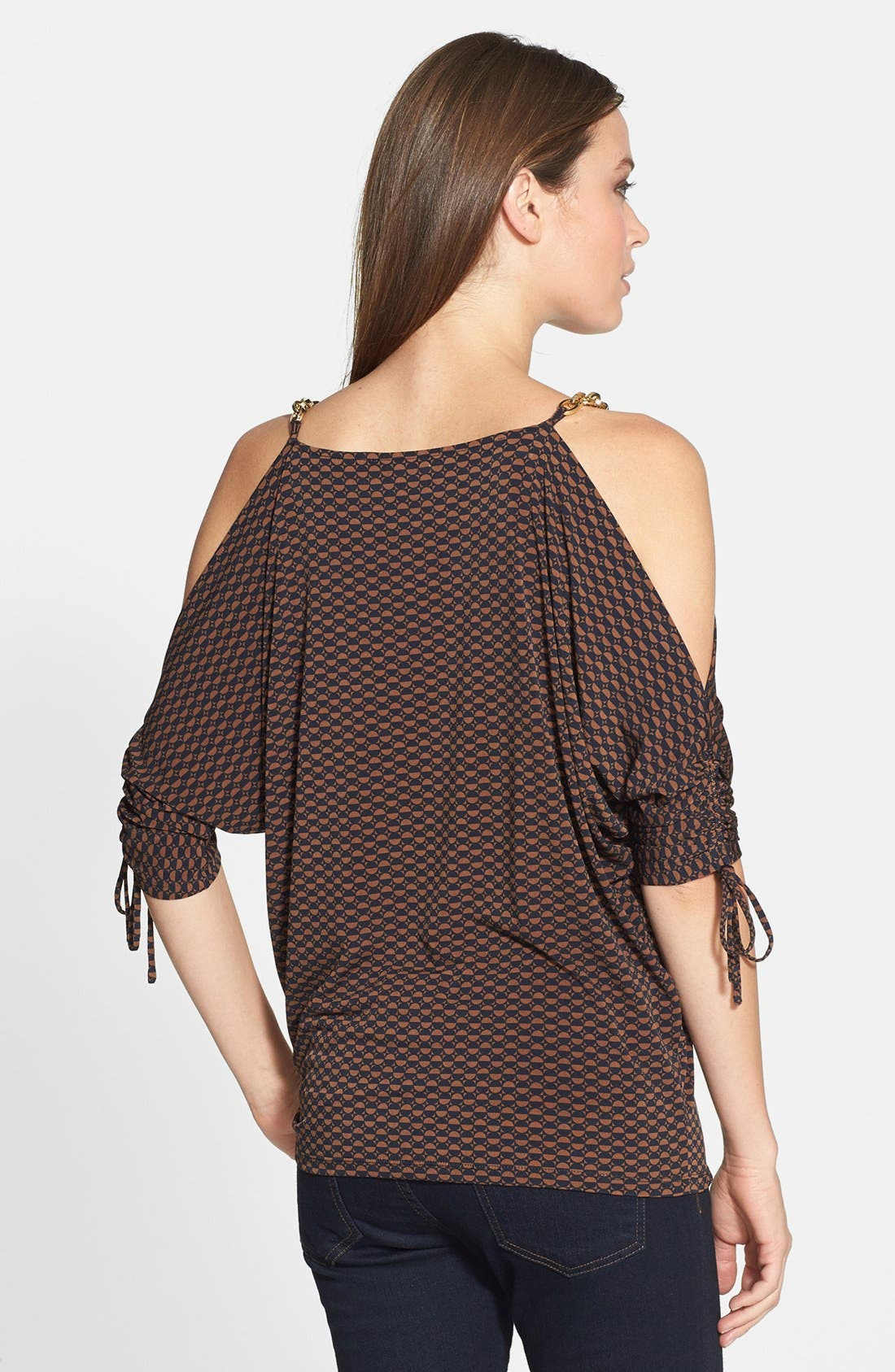 Alternate Image 2  - MICHAEL Michael Kors 'Cold Shoulder' Ruched Sleeve Top