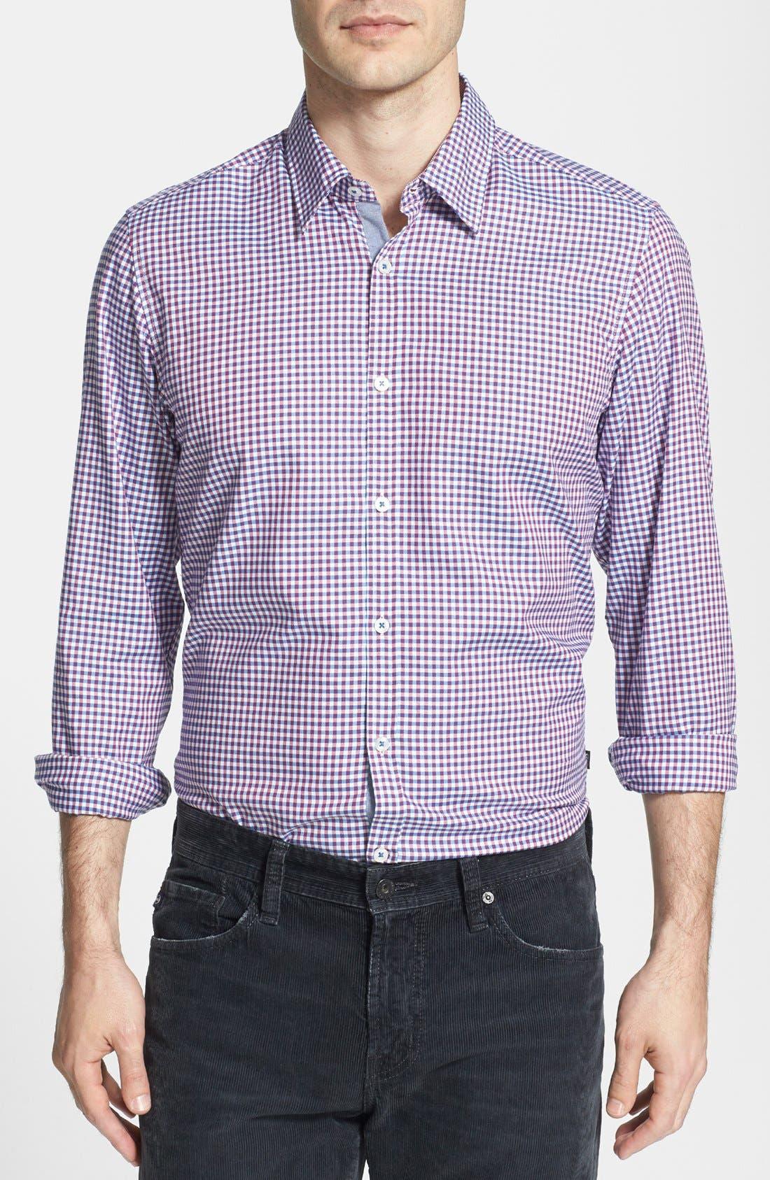 Alternate Image 1 Selected - BOSS HUGO BOSS 'Obert' Regular Fit Check Sport Shirt