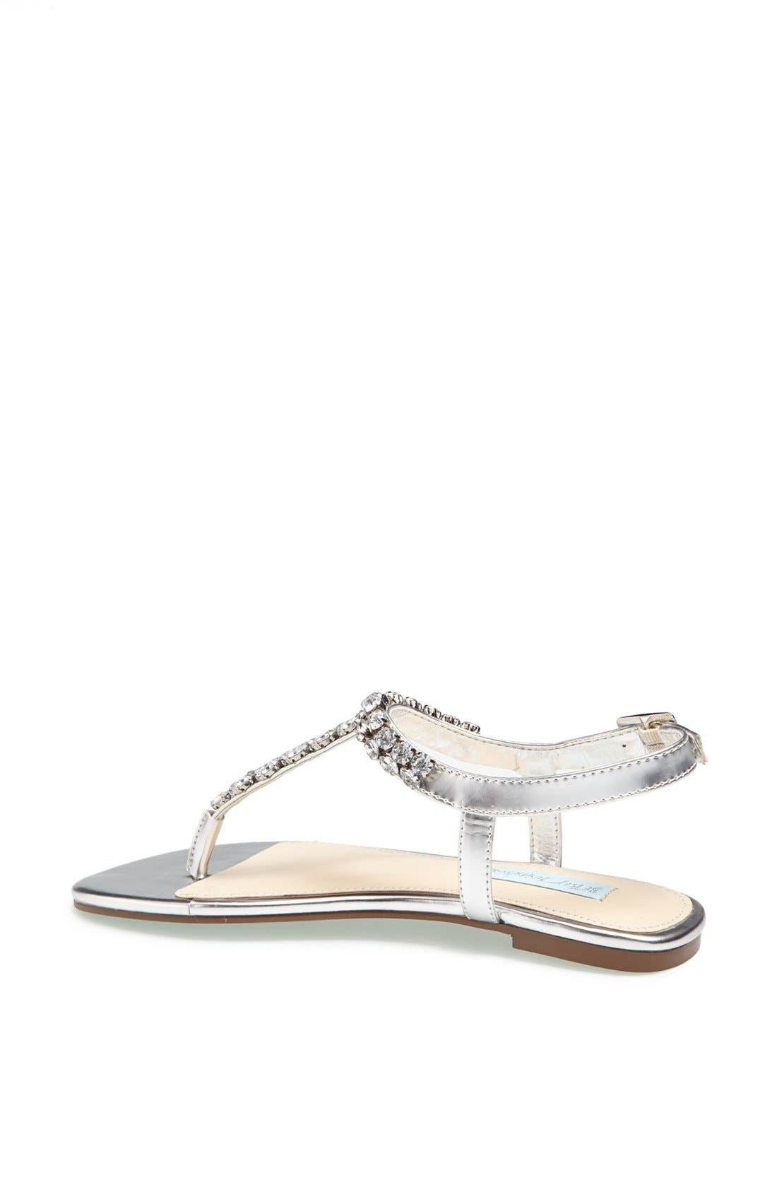 Alternate Image 2  - Blue by Betsey Johnson 'Spark' Crystal Embellished Thong Sandal
