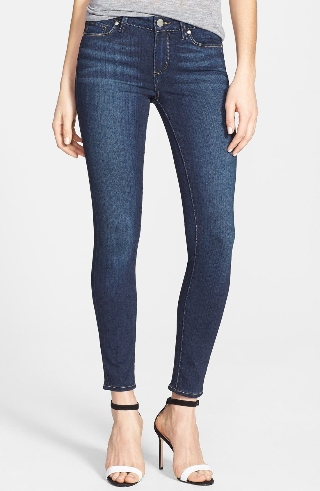 Transcend - Verdugo Ankle Skinny Jeans,                         Main,                         color, Nottingham