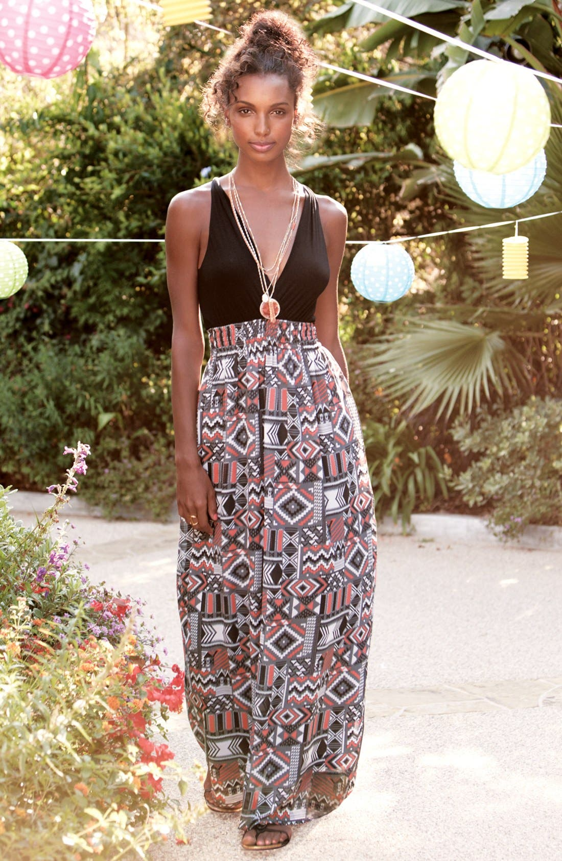 Alternate Image 4  - Felicity & Coco Printed Maxi Dress (Regular & Petite) (Nordstrom Exclusive)