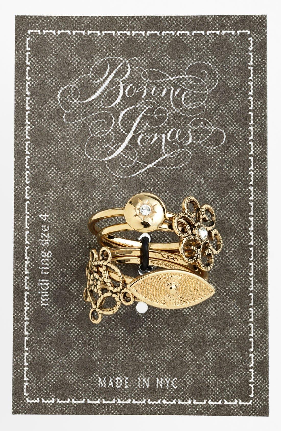 Main Image - Bonnie Jonas 'Ornamental Eye' Midi Rings (Set of 4)