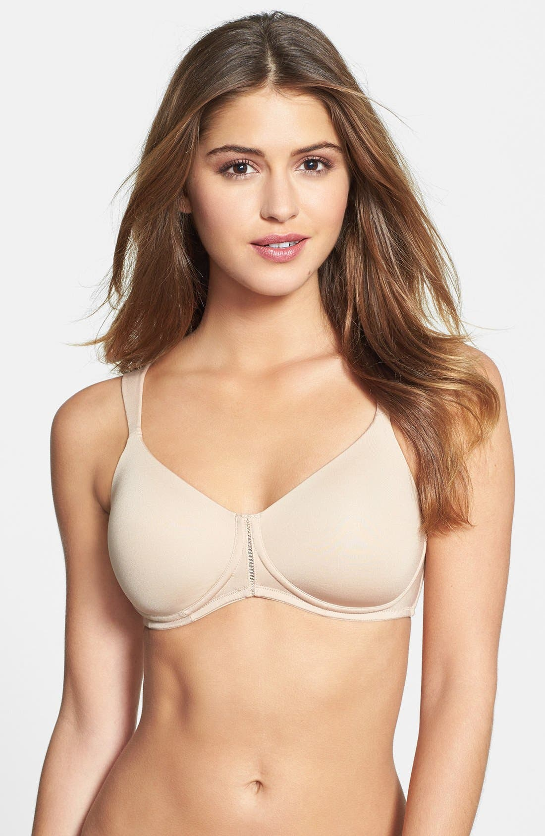 'Lara Comfort' Soft Cup T-Shirt Bra,                             Main thumbnail 1, color,                             Nude