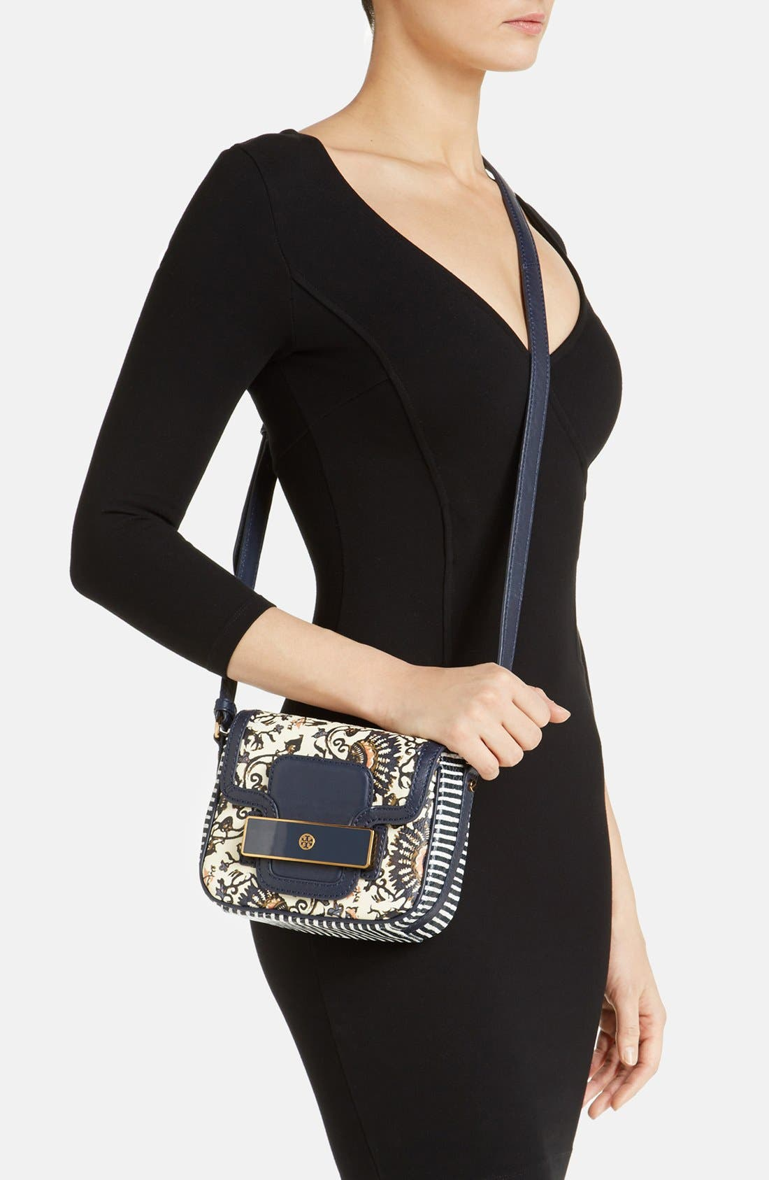 Alternate Image 2  - Tory Burch 'Jeweled' Leather Crossbody Bag
