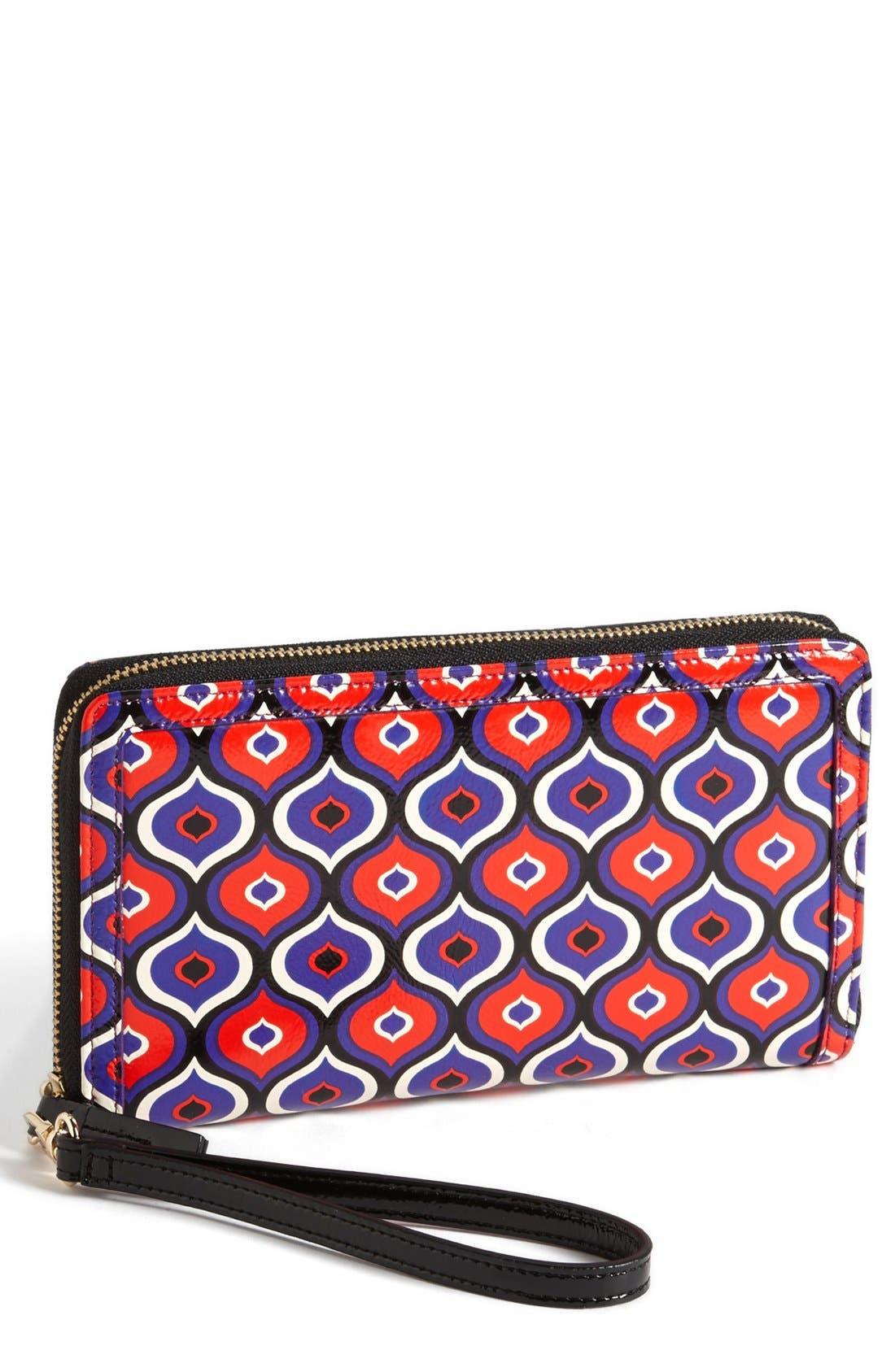 Main Image - Halogen® 'Hypergraphic' Leather Zip-Around Wallet