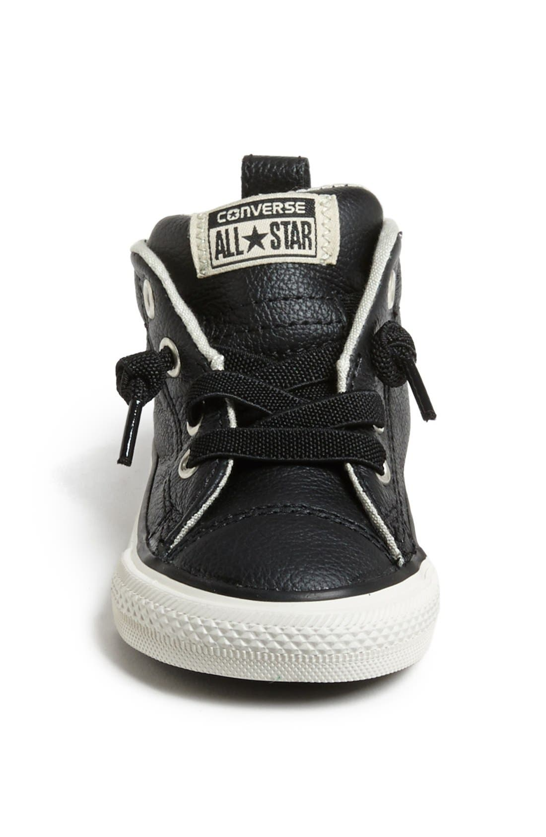 Chuck Taylor<sup>®</sup> All Star<sup>®</sup> 'CT AS Street' Leather Slip-On Sneaker,                             Alternate thumbnail 3, color,                             Black/ Tidal Foam