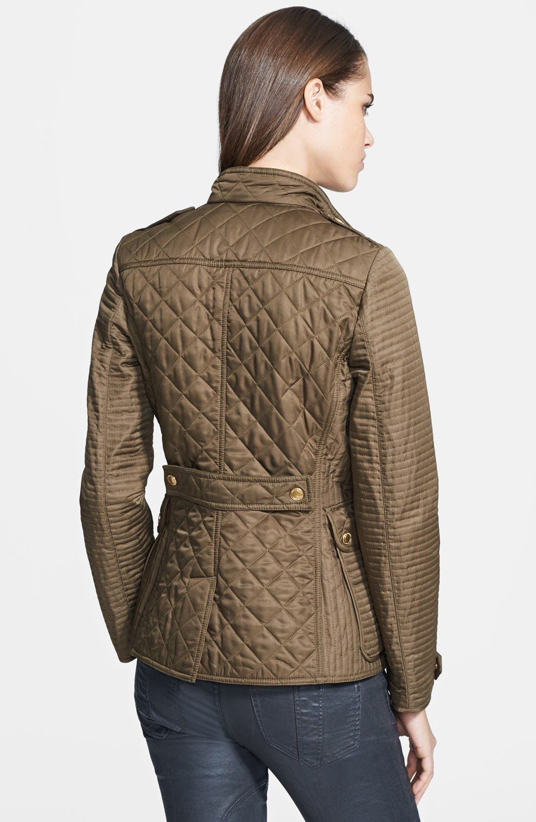 Alternate Image 2  - Burberry Brit 'Willsmoore' Quilted Snap Front Jacket