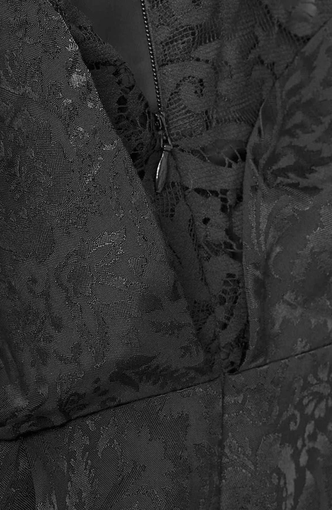 Alternate Image 4  - Topshop Lace Back Jacquard Romper