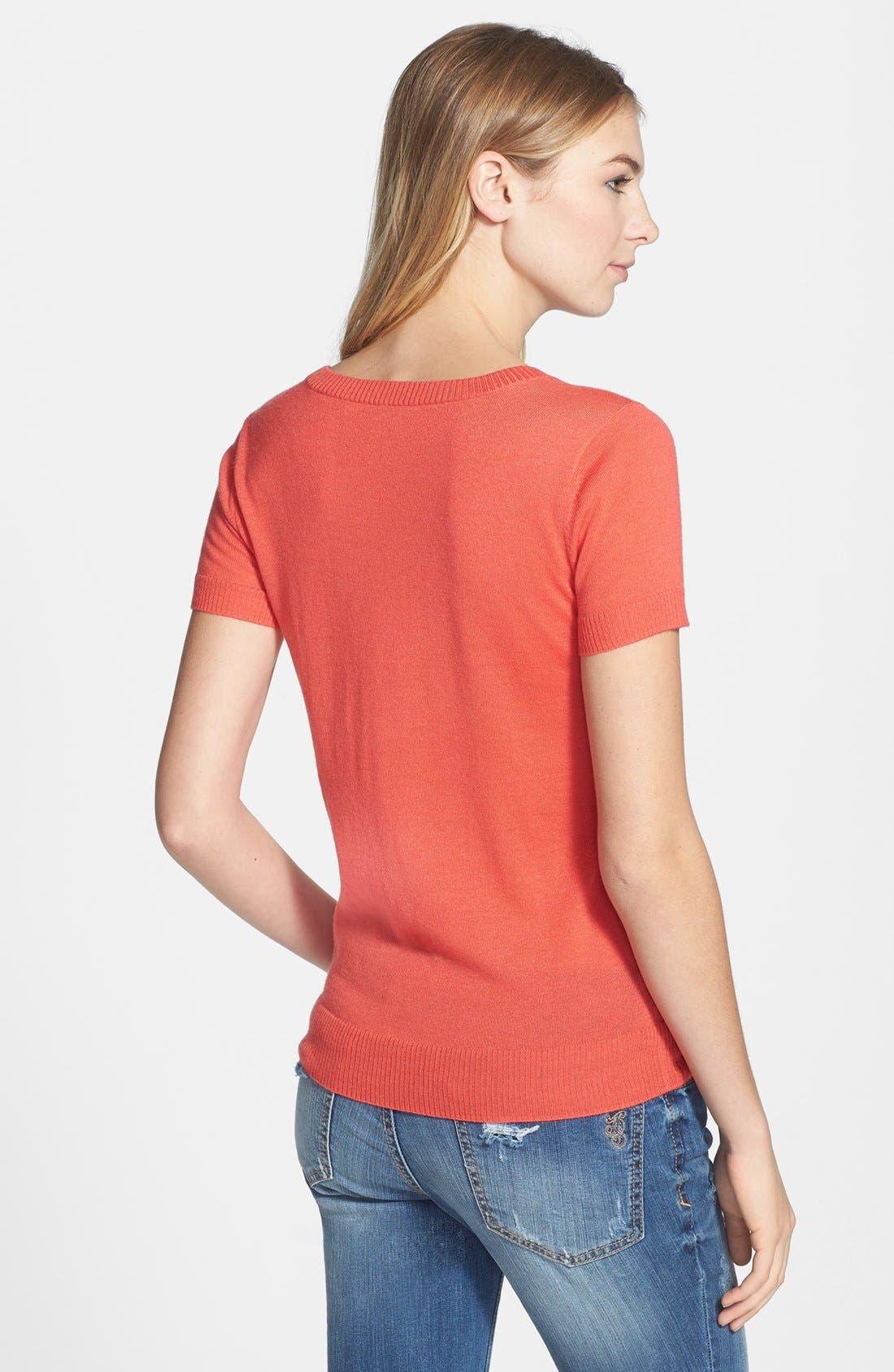 Alternate Image 2  - Halogen® Fine Weight Cashmere Sweater (Regular & Petite)