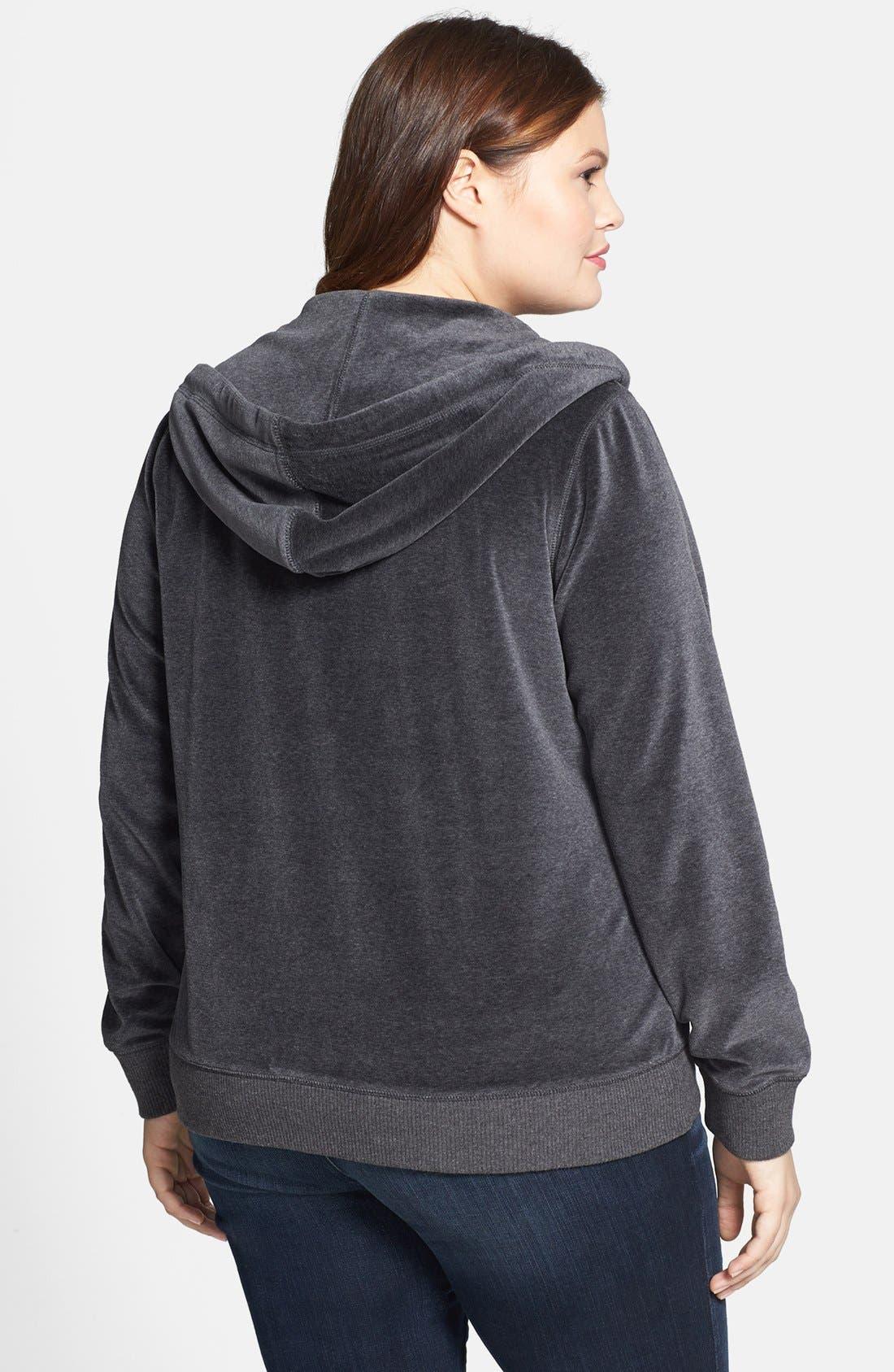 Alternate Image 2  - MICHAEL Michael Kors Embellished Velour Jacket (Plus Size)