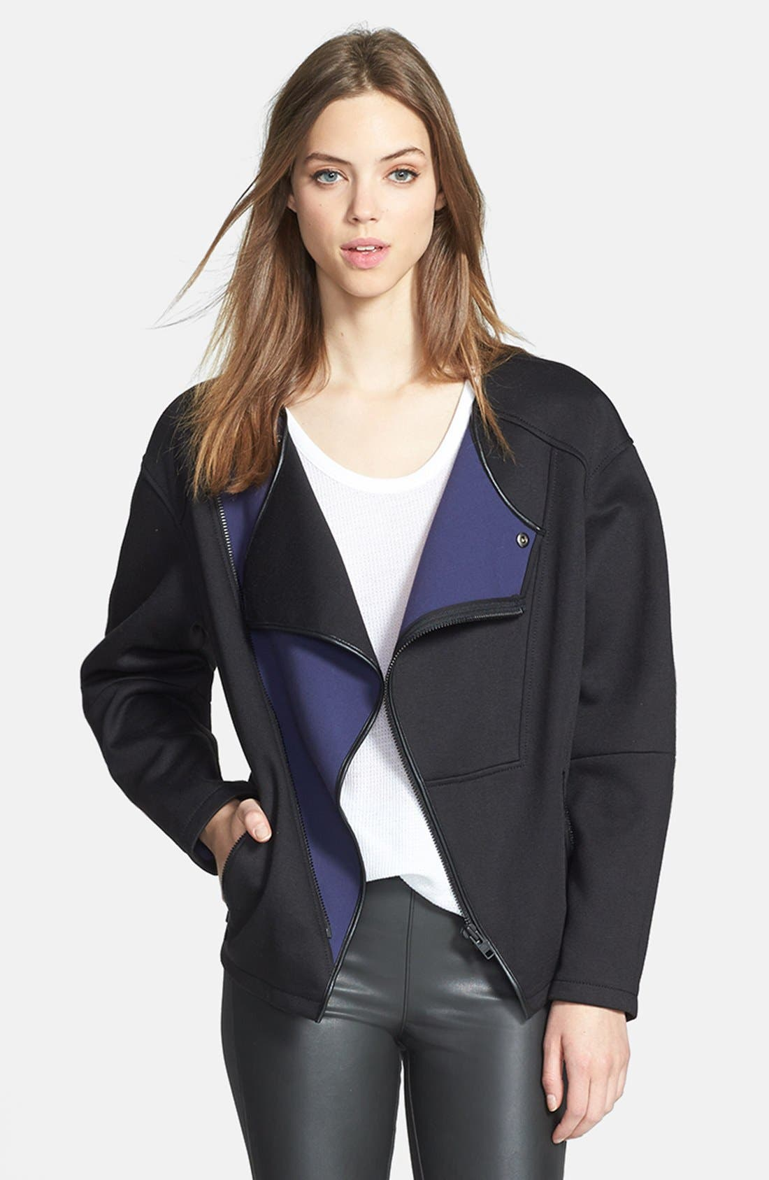 Main Image - Trouvé Colorblock Collarless Jacket