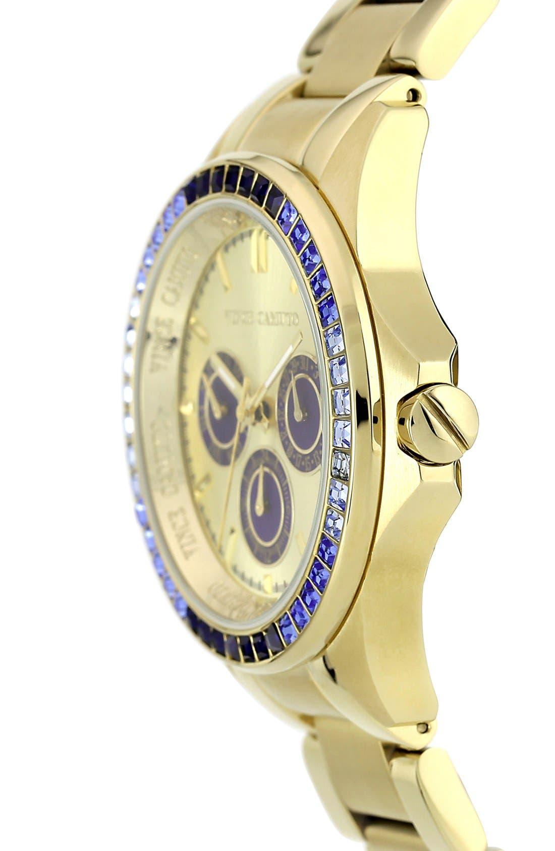 Alternate Image 3  - Vince Camuto Round Crystal Bezel Bracelet Watch, 42mm