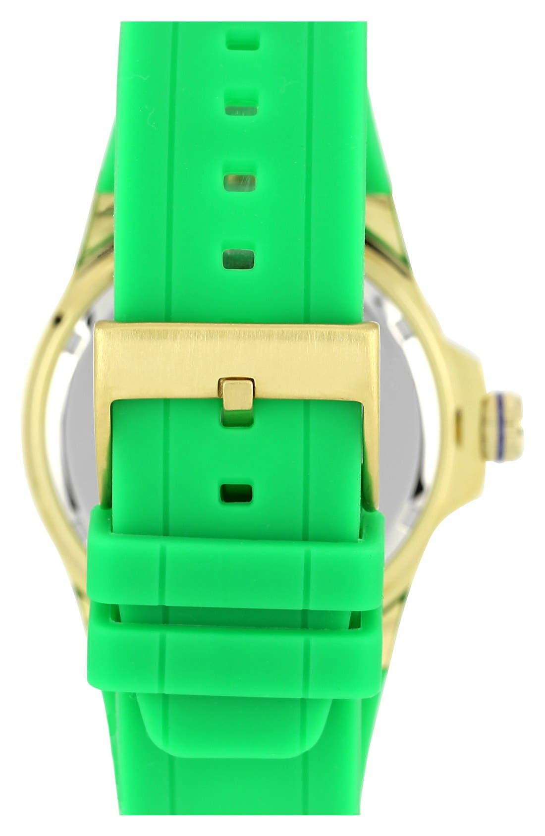 Alternate Image 2  - Vince Camuto Chronograph Silicone Strap Watch, 43mm