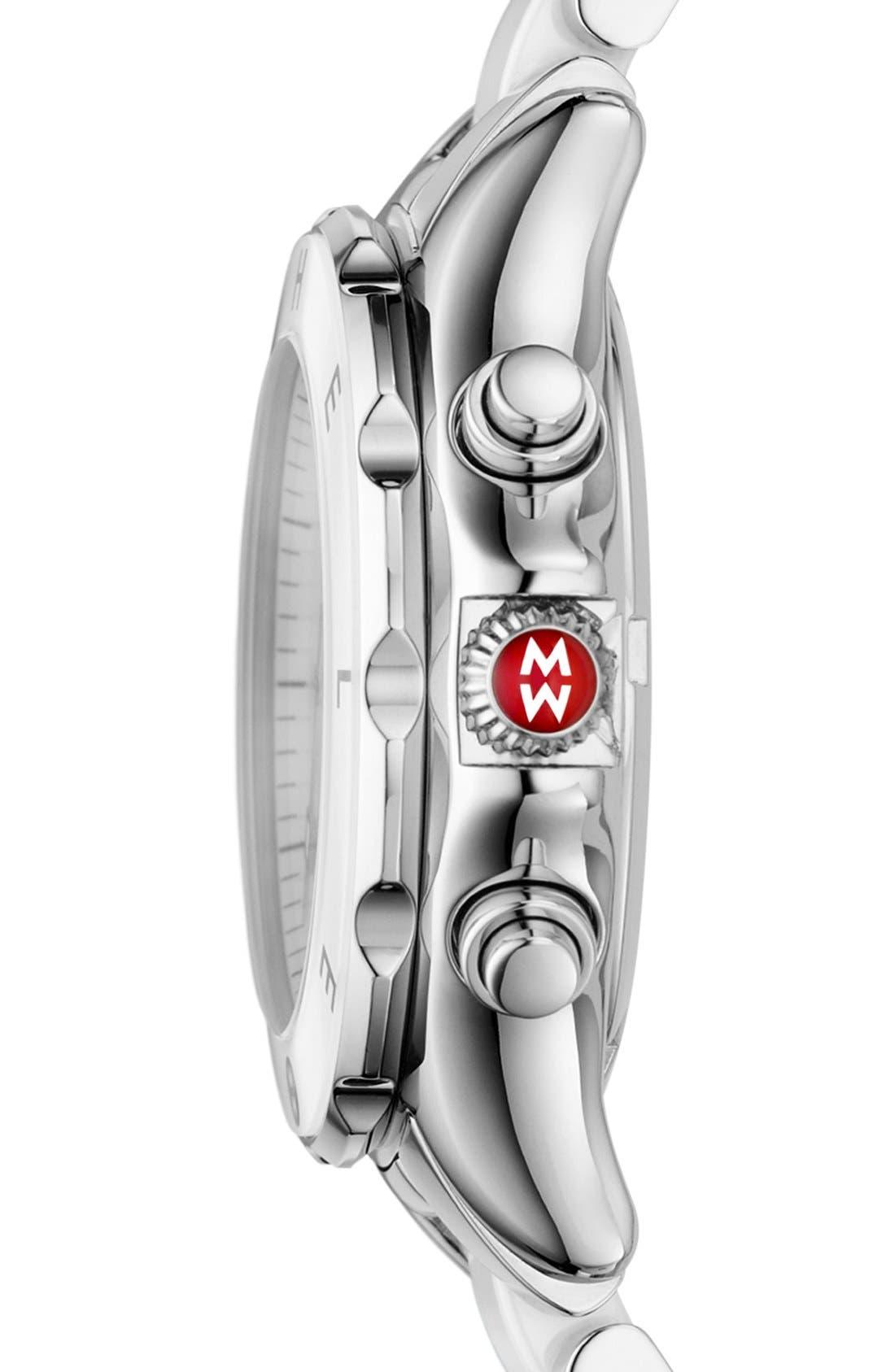 Alternate Image 3  - MICHELE 'Tahitian' Stainless Steel & Ceramic Watch, 35mm