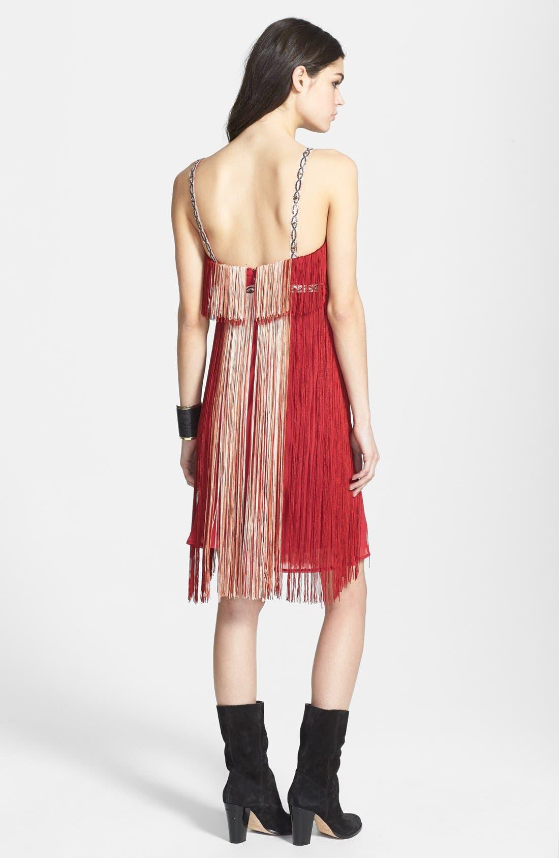 Alternate Image 2  - Free People 'Deco Fringe' Chiffon Midi Dress