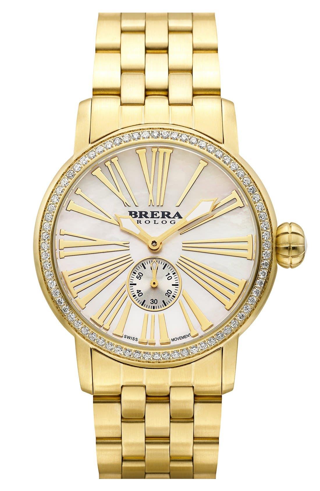 Alternate Image 4  - Brera 'Valentina' Diamond Bracelet Watch, 42mm