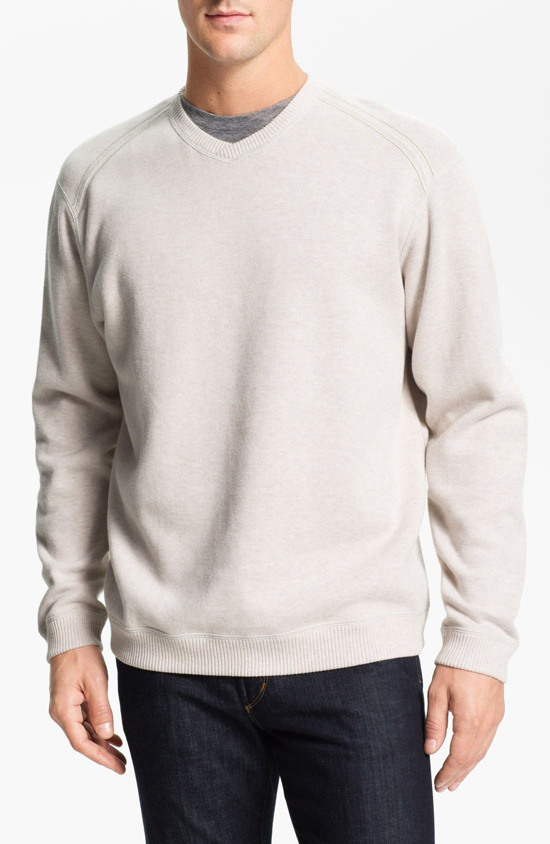 Alternate Image 1 Selected - Tommy Bahama 'Flip Side Pro' Fleece V-Neck Sweatshirt (Big & Tall)