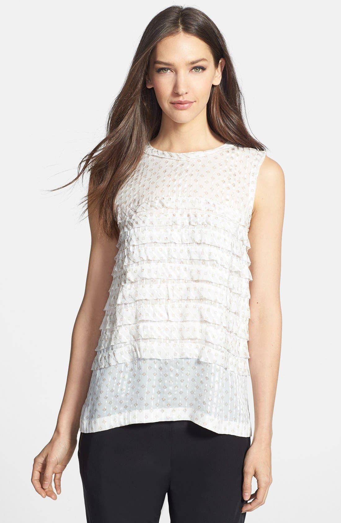 Main Image - MARC BY MARC JACOBS 'Mini Diamond' Crinkle Silk Top