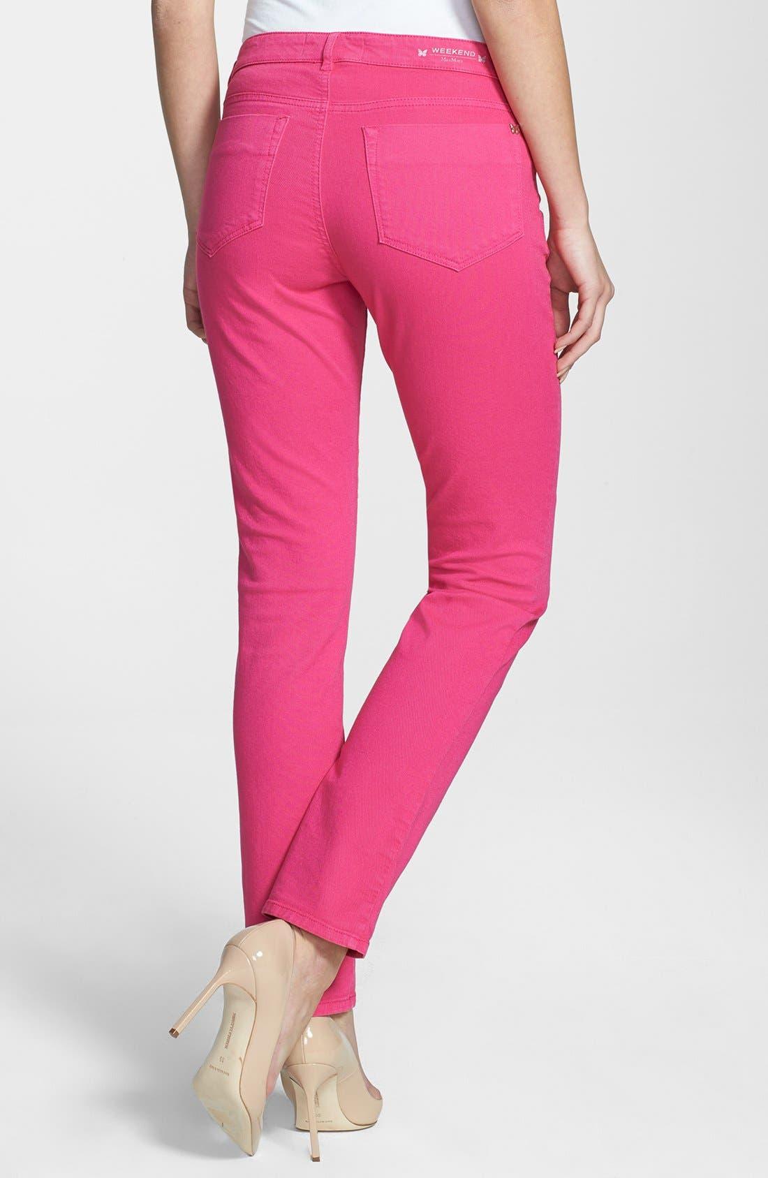 Alternate Image 2  - Weekend Max Mara 'Gitano' Stretch Cotton Pants