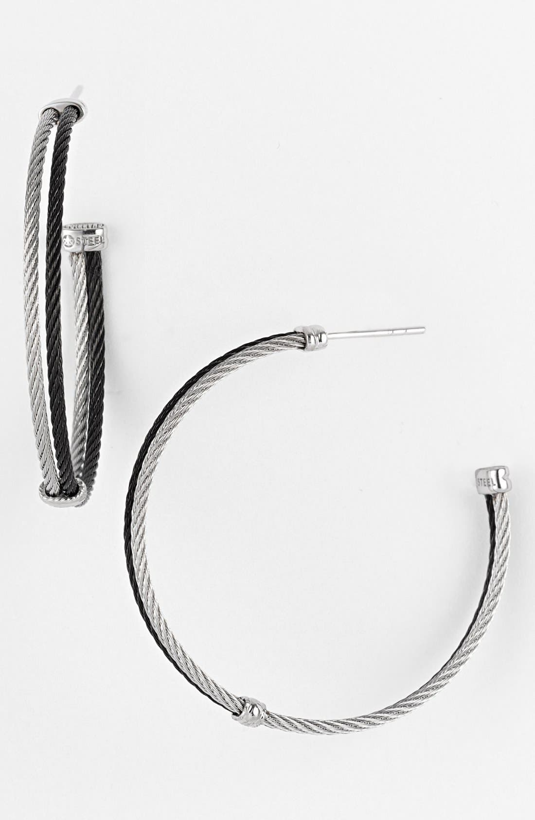 Alternate Image 1 Selected - ALOR® Hoop Earrings
