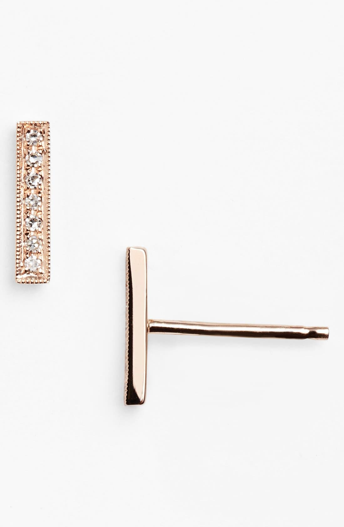 Dana Rebecca Designs 'Sylvie Rose' Diamond Bar Stud Earrings