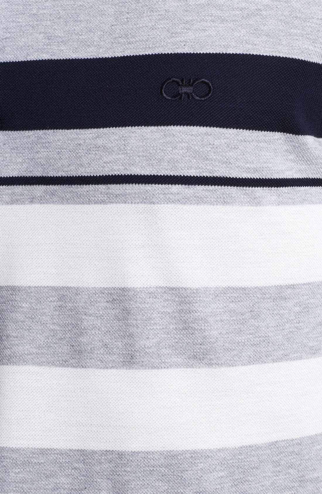 Alternate Image 3  - Salvatore Ferragamo Trim Fit Stripe Polo