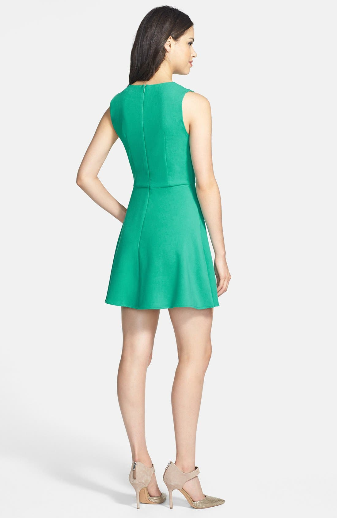 Alternate Image 2  - French Connection 'Feather Ruth' Ponte Fit & Flare Dress