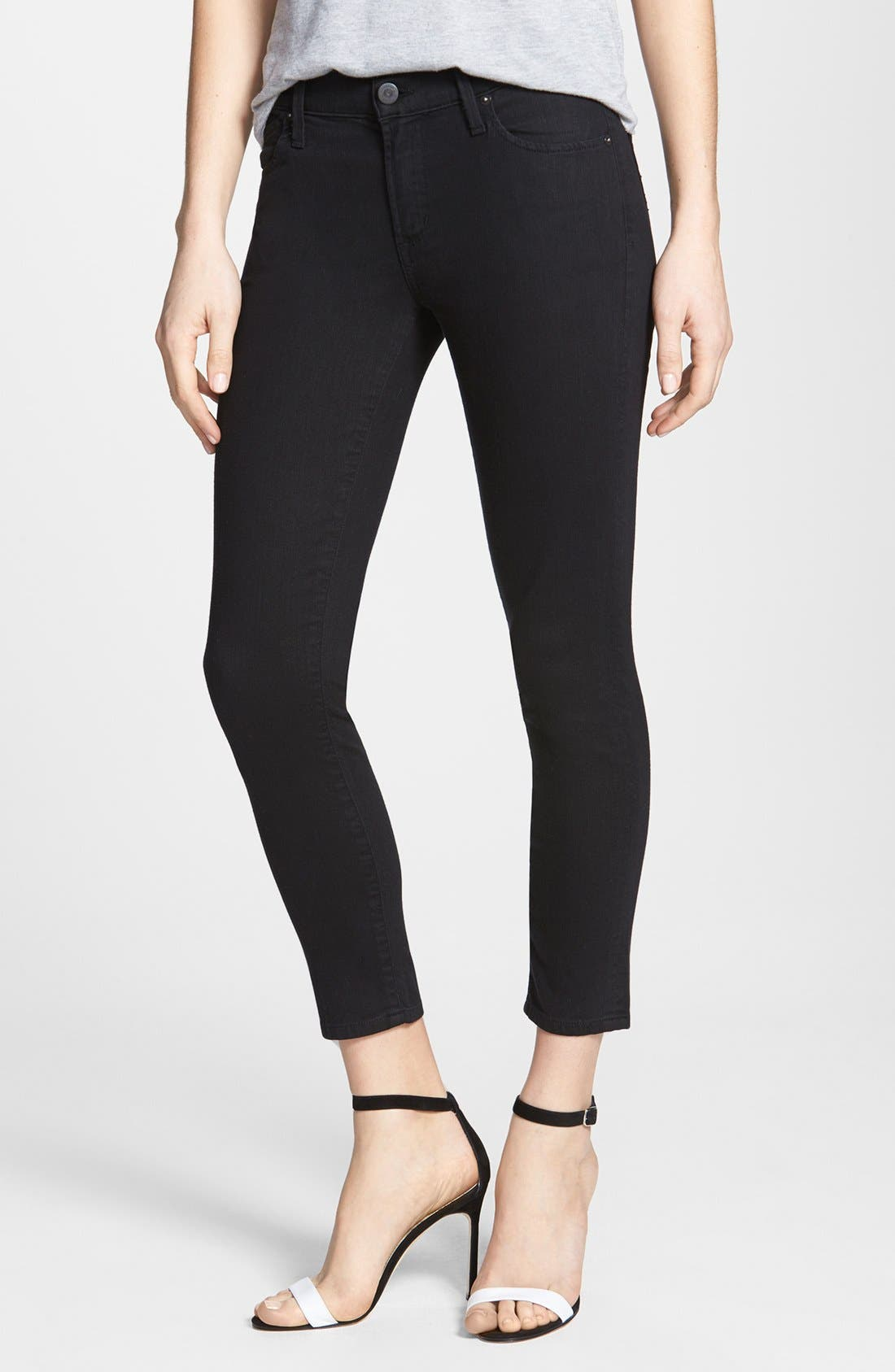 Alternate Image 1 Selected - Citizens of Humanity Skinny Crop Jeans (Black Diamond)