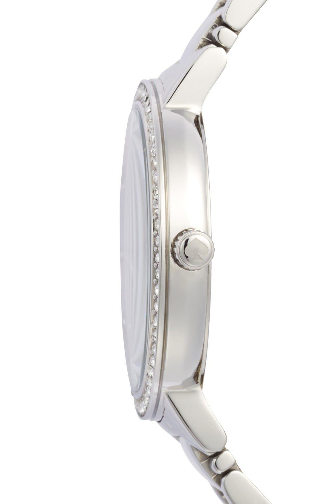 Alternate Image 3  - kate spade new york 'gramercy grand' pavé bezel bracelet watch, 38mm