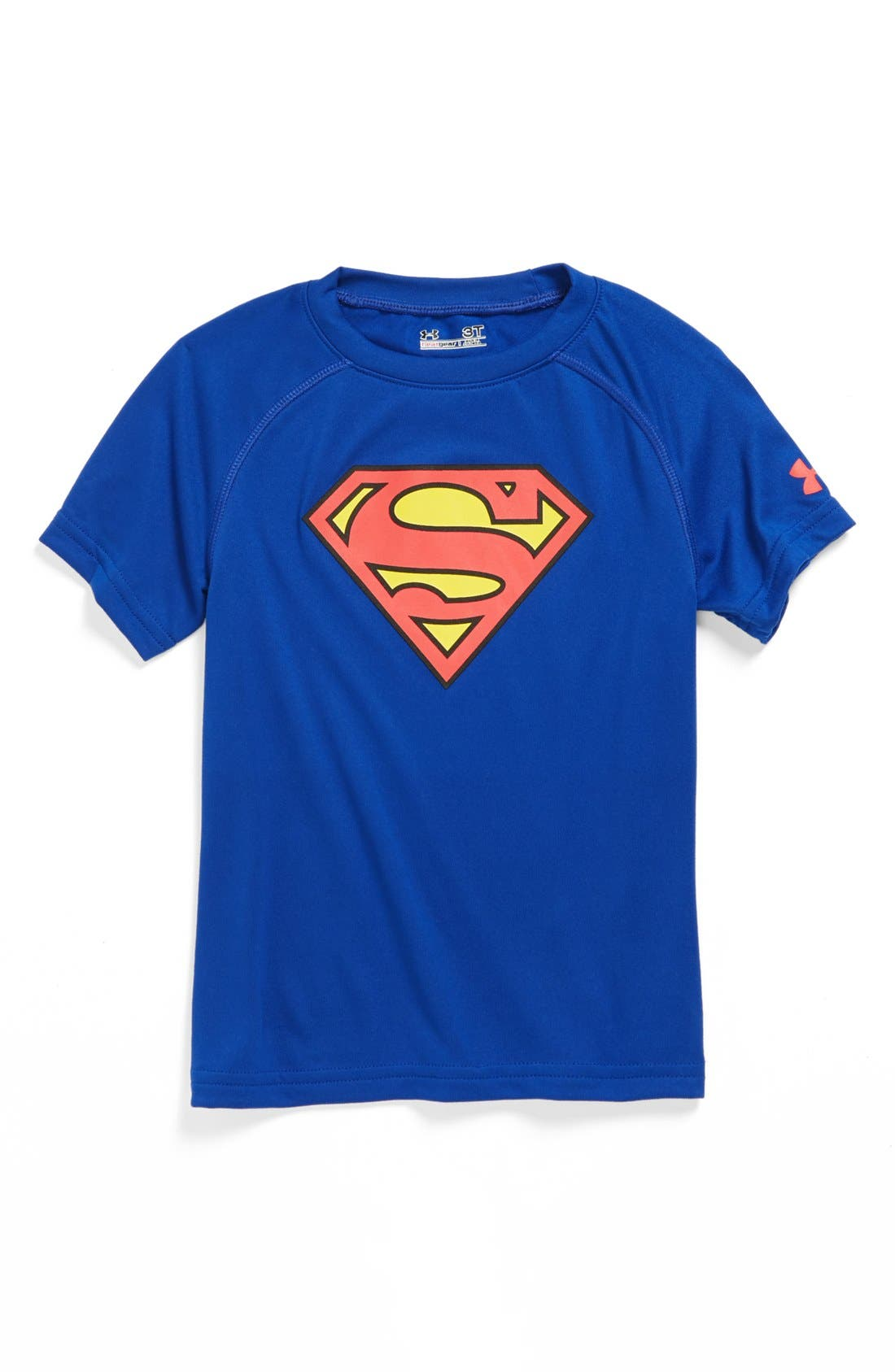 Alternate Image 1 Selected - Under Armour 'Alter Ego - Superman' HeatGear® T-shirt (Toddler Boys)