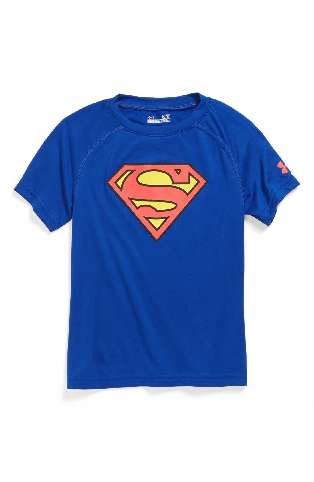 Main Image - Under Armour 'Alter Ego - Superman' HeatGear® T-shirt (Toddler Boys)