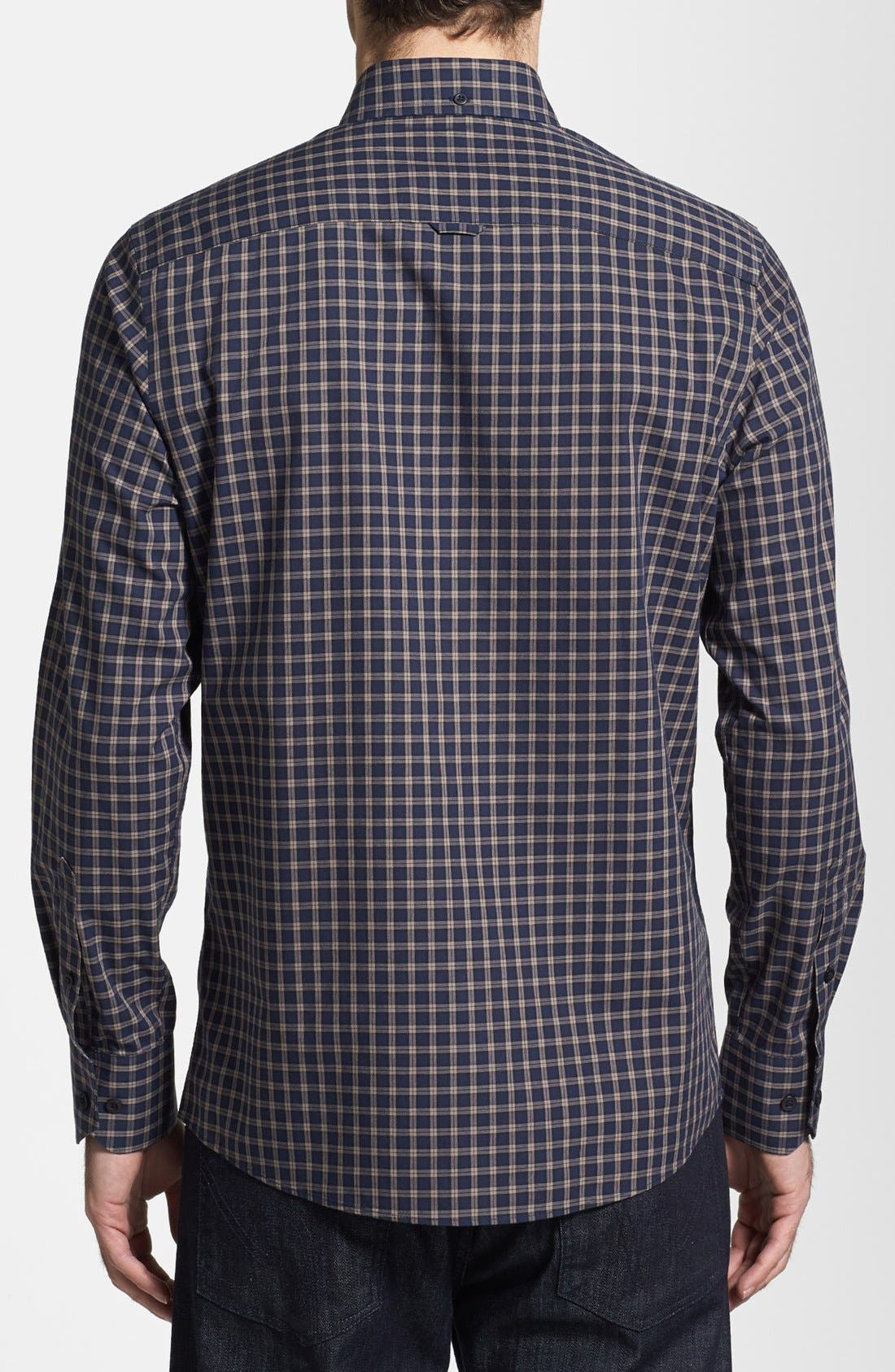 Alternate Image 2  - Nordstrom Smartcare™ Trim Fit Plaid Sport Shirt