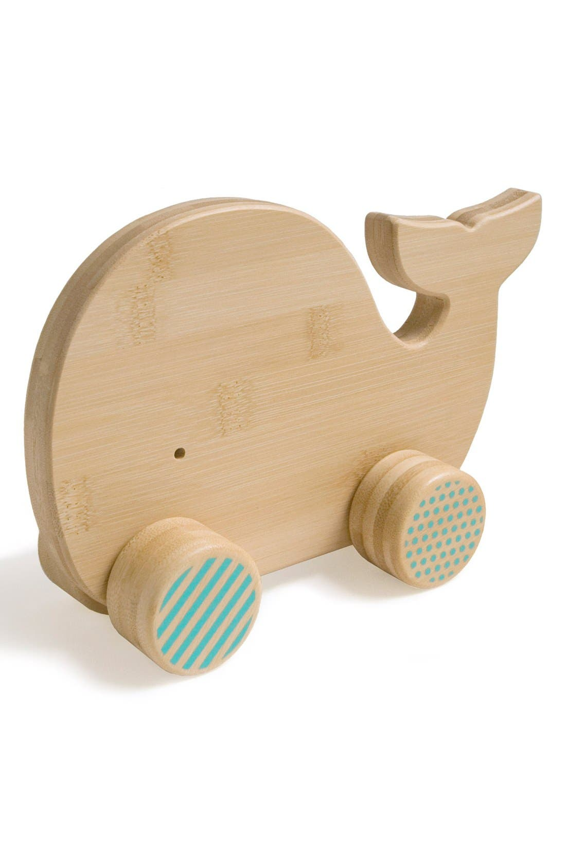 Alternate Image 1 Selected - Petit Collage 'Whale' Bamboo Push Toy