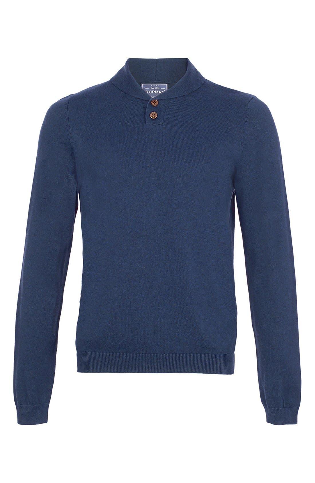 Main Image - Topman Shawl Collar Sweater