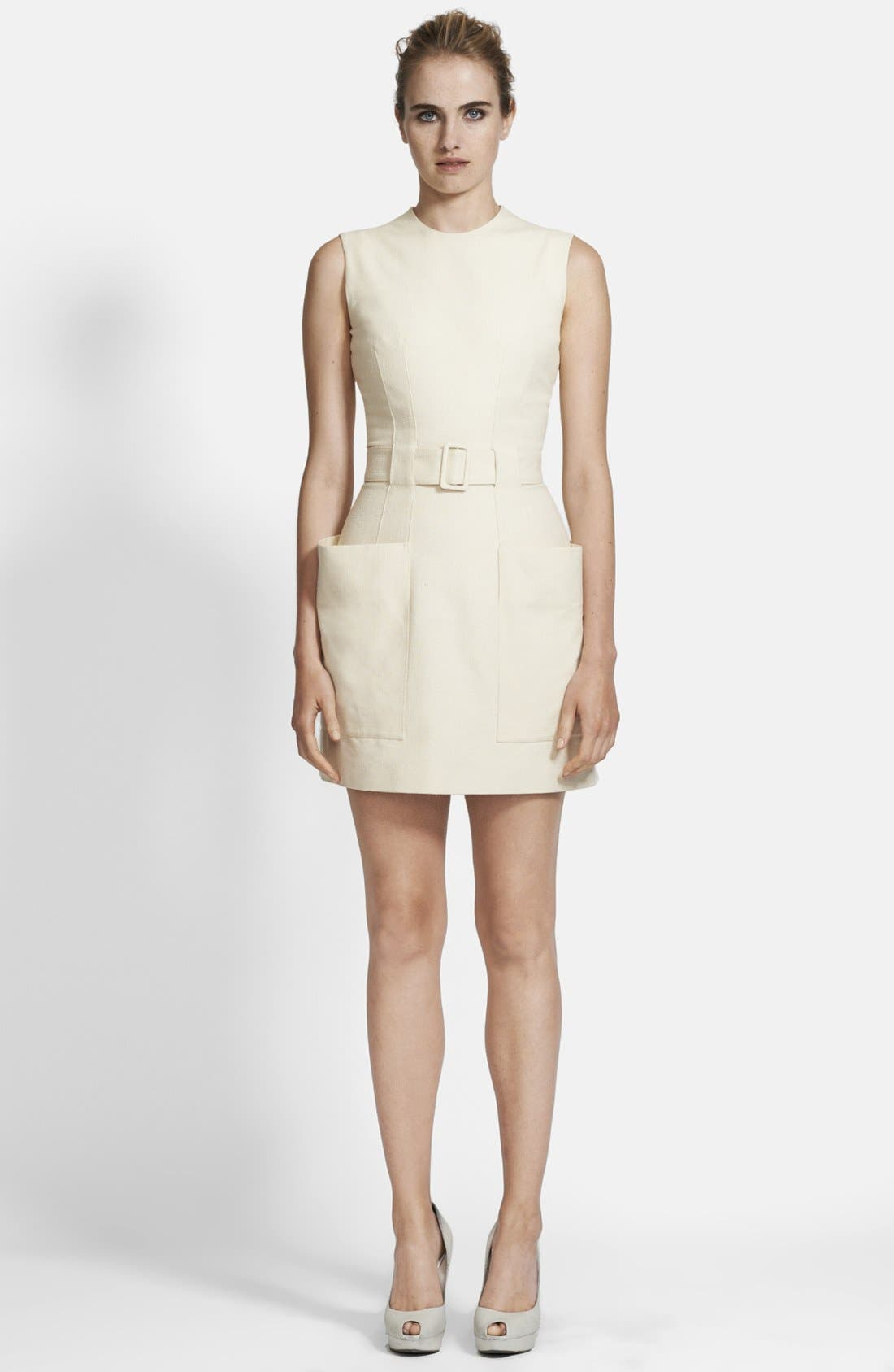 Alternate Image 1 Selected - Alexander McQueen Belted Canvas Dress