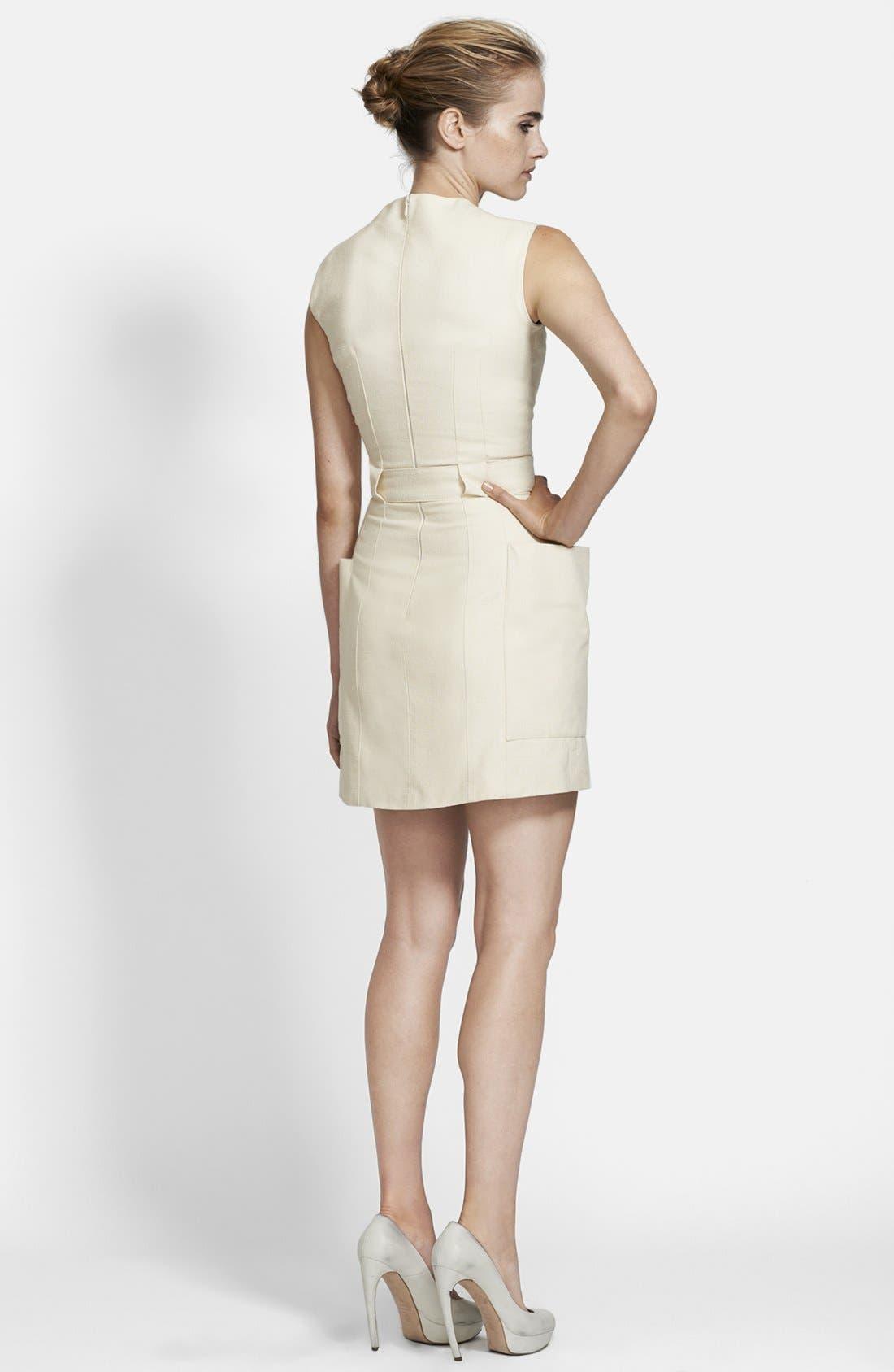 Alternate Image 2  - Alexander McQueen Belted Canvas Dress